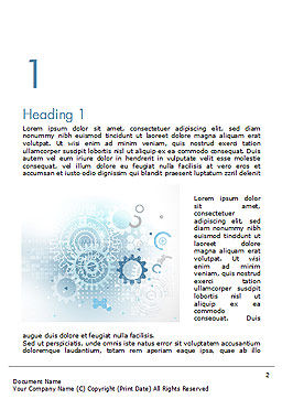 Industrial Engineering Theme Word Template, First Inner Page, 14759, Abstract/Textures — PoweredTemplate.com