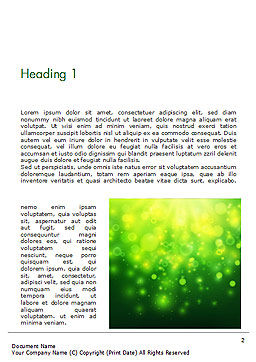 Green Bokeh Light Word Template First Inner Page