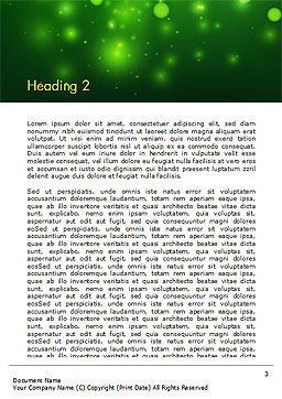 Green Bokeh Light Word Template, Second Inner Page, 14761, Abstract/Textures — PoweredTemplate.com