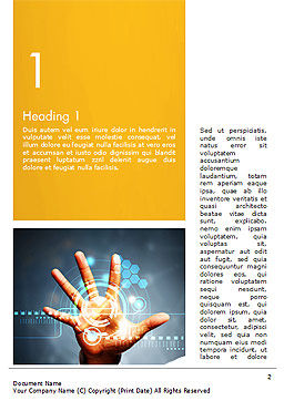 Technology Concept Word Template First Inner Page