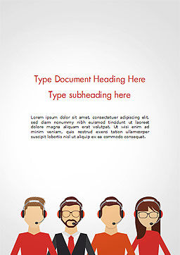 Call Center Staff Word Template Cover Page