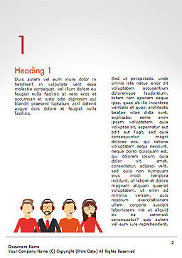 Call Center Staff Word Template First Inner Page