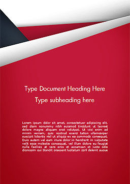 Abstract Background with Red and White Paper Layers Word Template Cover Page