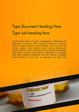 Bottles with Tablets Word Template Cover Page