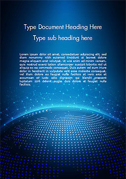 Cyberworld Word Template, Cover Page, 14770, 3D — PoweredTemplate.com