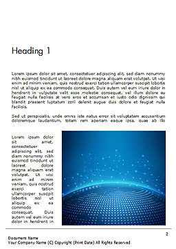 Cyberworld Word Template First Inner Page