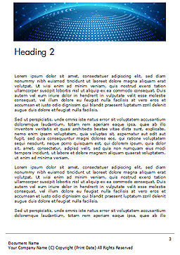 Cyberworld Word Template Second Inner Page