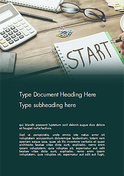 Start Text on Notepad Word Template Cover Page