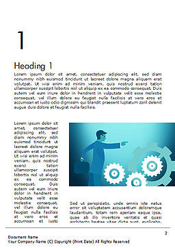 Process Control Concept Word Template First Inner Page
