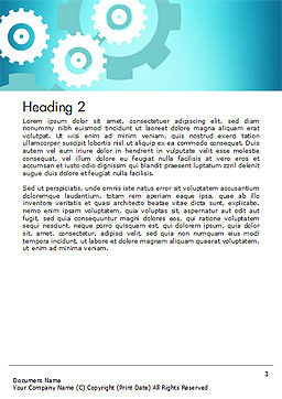 Process Control Concept Word Template, Second Inner Page, 14777, Business Concepts — PoweredTemplate.com