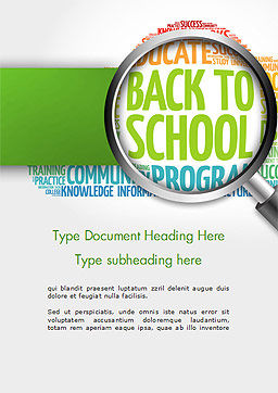 Back to School Word Cloud Word Template Cover Page