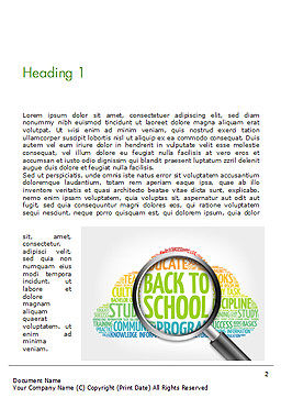 Back to School Word Cloud Word Template First Inner Page