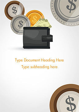 Cash Word Template, Cover Page, 14782, Financial/Accounting — PoweredTemplate.com