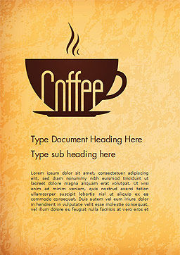 Cup of Coffee Word Template, Cover Page, 14783, Food & Beverage — PoweredTemplate.com