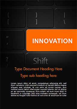 Innovation Shift Word Template, Cover Page, 14784, Business — PoweredTemplate.com