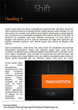 Innovation Shift Word Template First Inner Page