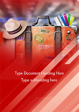 Travel Suitcase Word Template Cover Page