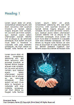 Artificial Intelligence for Business Word Template, First Inner Page, 14789, Technology, Science & Computers — PoweredTemplate.com