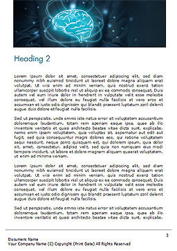 Artificial Intelligence for Business Word Template, Second Inner Page, 14789, Technology, Science & Computers — PoweredTemplate.com