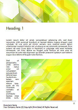 Abstract Background Design Word Template First Inner Page
