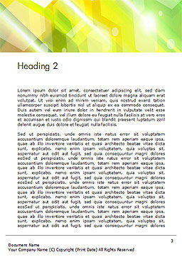 Abstract Background Design Word Template Second Inner Page