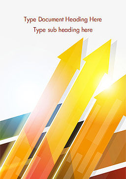 Upward Colored Arrows with Reflections Word Template, Cover Page, 14795, Abstract/Textures — PoweredTemplate.com