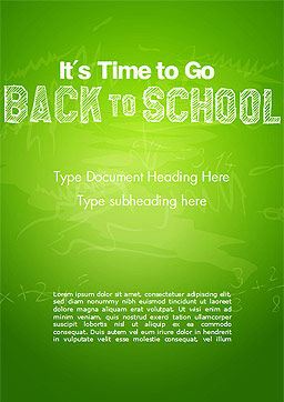 Back to School on Chalkboard Word Template, Cover Page, 14796, Education & Training — PoweredTemplate.com