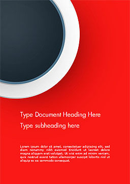 Circle on Red Abstract Background Word Template, Cover Page, 14801, Abstract/Textures — PoweredTemplate.com