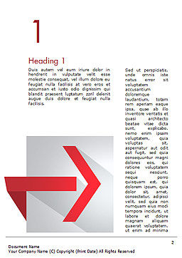 Right Red Arrow Theme Word Template First Inner Page
