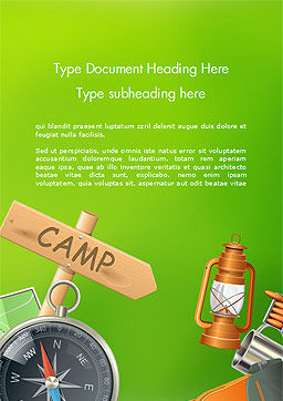 Camping Accessories Word Template, Cover Page, 14804, Careers/Industry — PoweredTemplate.com