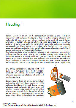 Camping Accessories Word Template, First Inner Page, 14804, Careers/Industry — PoweredTemplate.com