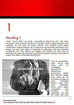Man Starting Benchmarking Process Word Template, First Inner Page, 14809, Business Concepts — PoweredTemplate.com