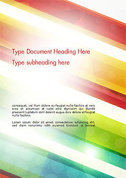Colorful Diagonal Stripes Word Template, Cover Page, 14811, Abstract/Textures — PoweredTemplate.com