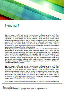 Colorful Diagonal Stripes Word Template First Inner Page