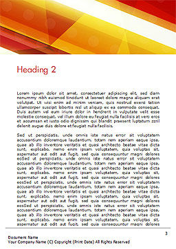 Colorful Diagonal Stripes Word Template Second Inner Page