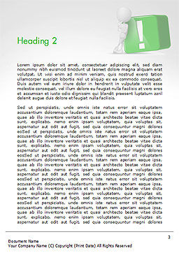 3D Human And Green Exclamation Mark Cube Word Template Second Inner Page