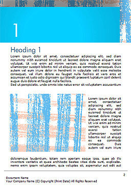 Abstract Hand Draw Crayon Paper Texture Word Template First Inner Page