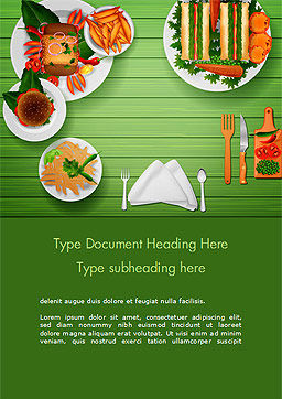 Snack Table Word Template, Cover Page, 14822, Food & Beverage — PoweredTemplate.com