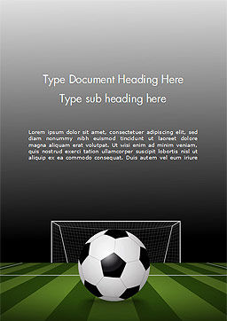 Soccer Ball On Eleven-meter Mark Word Template, Cover Page, 14825, Sports — PoweredTemplate.com