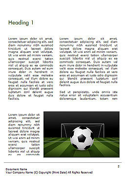 Soccer Ball On Eleven-meter Mark Word Template, First Inner Page, 14825, Sports — PoweredTemplate.com