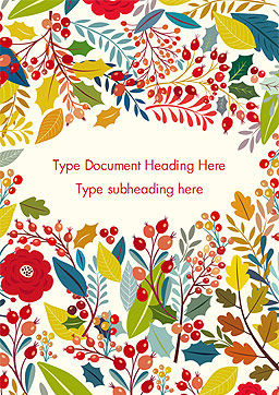 Autumn Bloom Word Template, Cover Page, 14826, Art & Entertainment — PoweredTemplate.com