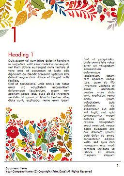 Autumn Bloom Word Template, First Inner Page, 14826, Art & Entertainment — PoweredTemplate.com