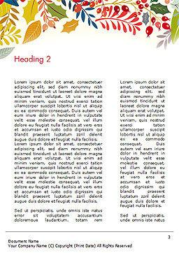 Autumn Bloom Word Template, Second Inner Page, 14826, Art & Entertainment — PoweredTemplate.com