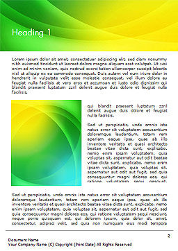 Green and Yellow Abstraction Word Template, First Inner Page, 14828, Abstract/Textures — PoweredTemplate.com