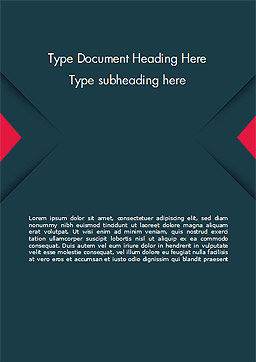 Geometrically Strict Word Template, Cover Page, 14831, Business — PoweredTemplate.com