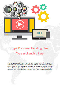 Video Marketing Word Template, Cover Page, 14832, Careers/Industry — PoweredTemplate.com