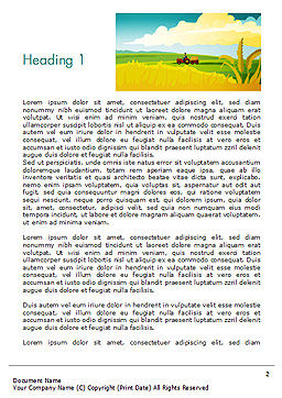Idyllic Farm Landscape Word Template First Inner Page