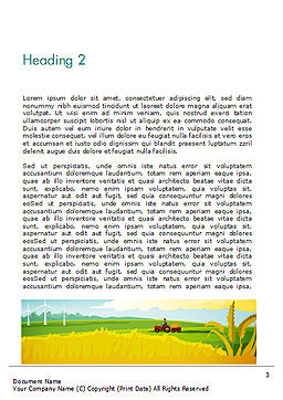 Idyllic Farm Landscape Word Template Second Inner Page