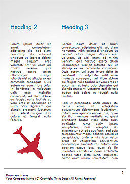Airplane Travel Concept Word Template Second Inner Page