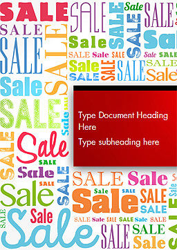 Sale Word Cloud Word Template Cover Page